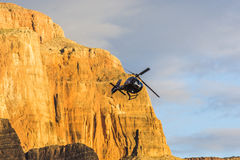 Grand Canyon Sunset Helicopter View Royalty Free Stock Photos
