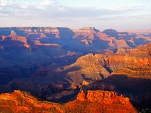 Grand Canyon at Sunset Hopi Point stock photography