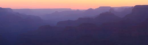 Grand Canyon Sunset Panorama royalty free stock photography