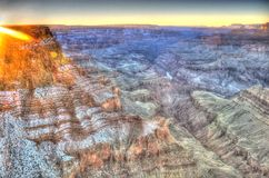 Grand Canyon at sunset Royalty Free Stock Photo