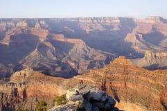 Grand Canyon at sunset with photographer Stock Photos