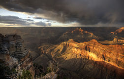 Grand Canyon at sunset - south rim view - HDR. Stock Photo