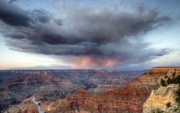 Grand Canyon at sunset - south rim view - HDR. Royalty Free Stock Photo