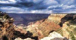 Grand Canyon at sunset - south rim view - HDR. Stock Photos
