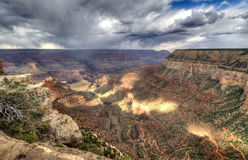 Grand Canyon at sunset - south rim view - HDR. Royalty Free Stock Image