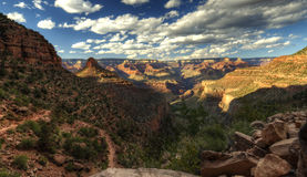 Grand Canyon at sunset - south rim view - HDR. Royalty Free Stock Images
