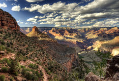 Grand Canyon at sunset - south rim view - HDR. Stock Photography