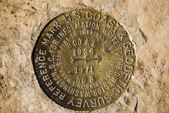 Grand Canyon Survey Marker Stock Photos