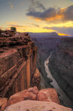 Grand Canyon Toroweap Punkt-Sonnenaufgang Stockbild