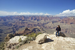 Grand Canyon Tourist Stock Photography