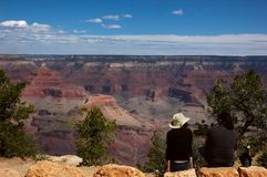 Grand Canyon Tourists Stock Photo