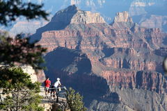 Grand Canyon Tourists Royalty Free Stock Image