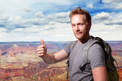 Grand Canyon travel Young man Stock Photography