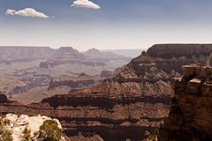 Grand Canyon Under Blue and White Cloudy Sky Royalty Free Stock Image