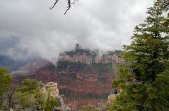 The Grand Canyon under heavy fog. US stock photos