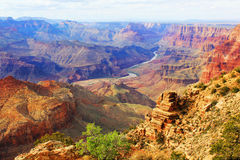 Grand Canyon. USA, Arizona. Panoramic Great View Stock Images