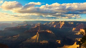 GRAND Canyon usa. A made photo over Grand Canyon in usa in September royalty free stock photo