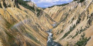Grand Canyon van de Yellowstone-rivier Wyoming royalty-vrije stock fotografie