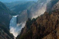 Grand Canyon van Yellowstone, Wyoming, de V.S. stock foto