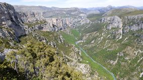 Canyon of verdon, france stock photo