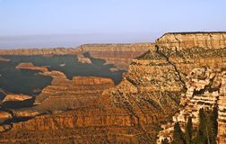 Grand Canyon View from Grandview Point. This is a view during the golden hour of the Grand Canyon from Grandview Point Royalty Free Stock Photos