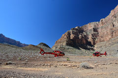 Grand Canyon, view of helicopters Stock Images