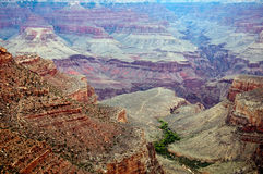 Grand Canyon. A view into the Grand Canyon with Indian Gardens in the distance Stock Photography