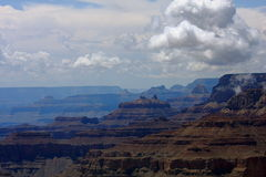 Grand Canyon. View of layers of earth and clouds over Grand Canyon National Park Royalty Free Stock Photos