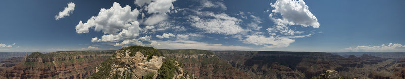 Grand Canyon view panorama from north rim. Huge Grand Canyon view panorama from north rim stock images