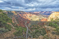 Grand Canyon view panorama from north rim Royalty Free Stock Photography
