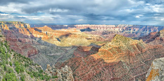 Grand Canyon view panorama from north rim Royalty Free Stock Image