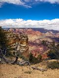 Grand Canyon View, Rim Trail, Nature, Arizona. View of Grand Canyon from rim trail at south rim road, Arizona, USA Royalty Free Stock Photo