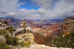 Grand Canyon View, Rim Trail, Nature, Arizona. View of Grand Canyon from rim trail at south rim road, Arizona, USA Stock Photography