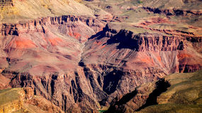 Grand Canyon. A view into the Grand Canyon from the South Rim Stock Photos