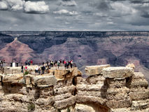The Grand Canyon view with stormy clouds Royalty Free Stock Images