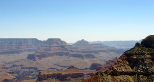 Grand Canyon view in the sunny afternoon. Stock Photos