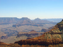 Grand Canyon view in the sunny afternoon. Royalty Free Stock Photo