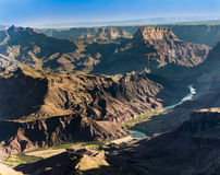 Grand Canyon with view to River Colorado i Royalty Free Stock Image