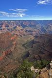 Grand Canyon with a view of the trails Royalty Free Stock Photography