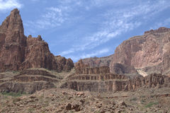 Grand Canyon View. View of Grand Canyon West from the river stock photos