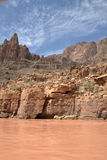 Grand Canyon View. View of Grand Canyon West from the river stock photo