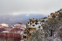 Grand Canyon View in the winter Stock Image