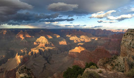 The Grand Canyon. Views of the canyon, the landscape and nature Royalty Free Stock Photography