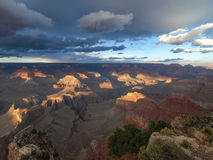 The Grand Canyon. Views of the canyon, the landscape and nature Royalty Free Stock Image