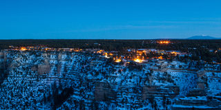 Grand Canyon Village At Dusk Royalty Free Stock Images