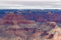 Grand Canyon vintersikt från Mojavepunkt Arkivbild