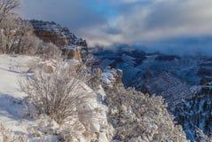 Grand Canyon vintersnö Royaltyfria Bilder