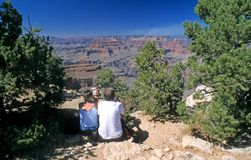 Grand Canyon, visitors Stock Photos