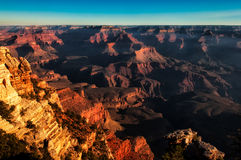 Grand canyon vivid sunset landscape Royalty Free Stock Photos