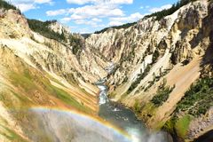 Grand Canyon von Yellowstone-Park Stockfotografie